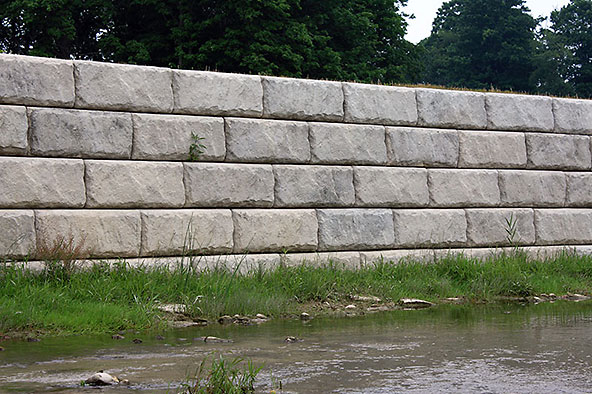 Lahman Precast Redi Rock Retaining Walls Natural